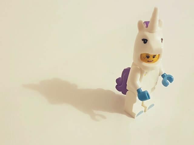 lego unicorn person by ines pimentel